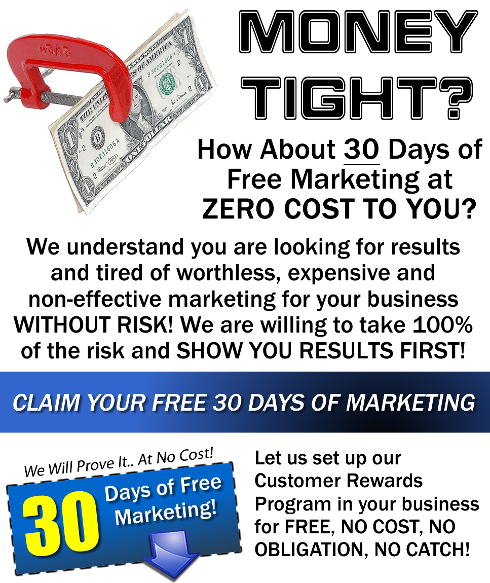 Money Tight? How about 30 Days of Free Marketing?